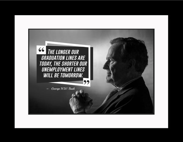 George W. Bush The Longer Our Poster, Print, Picture or Framed Photograph