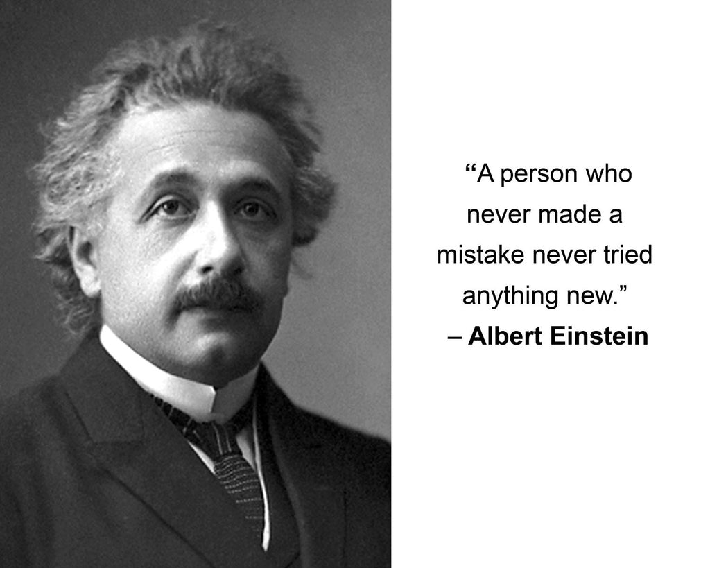 "Albert Einstein ""A person who never"" Quote 8x10 Photo"