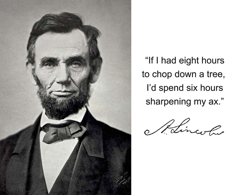 "Abraham Lincoln ""If I had eight hours"" Quote Autograph 8x10 Photo"