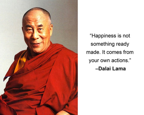 "Dalai Lama ""Happiness is not"" Quote 8x10 Photo"