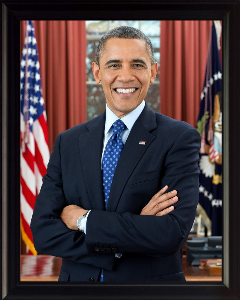 Barack Obama 8x10 High Quality Framed Photo