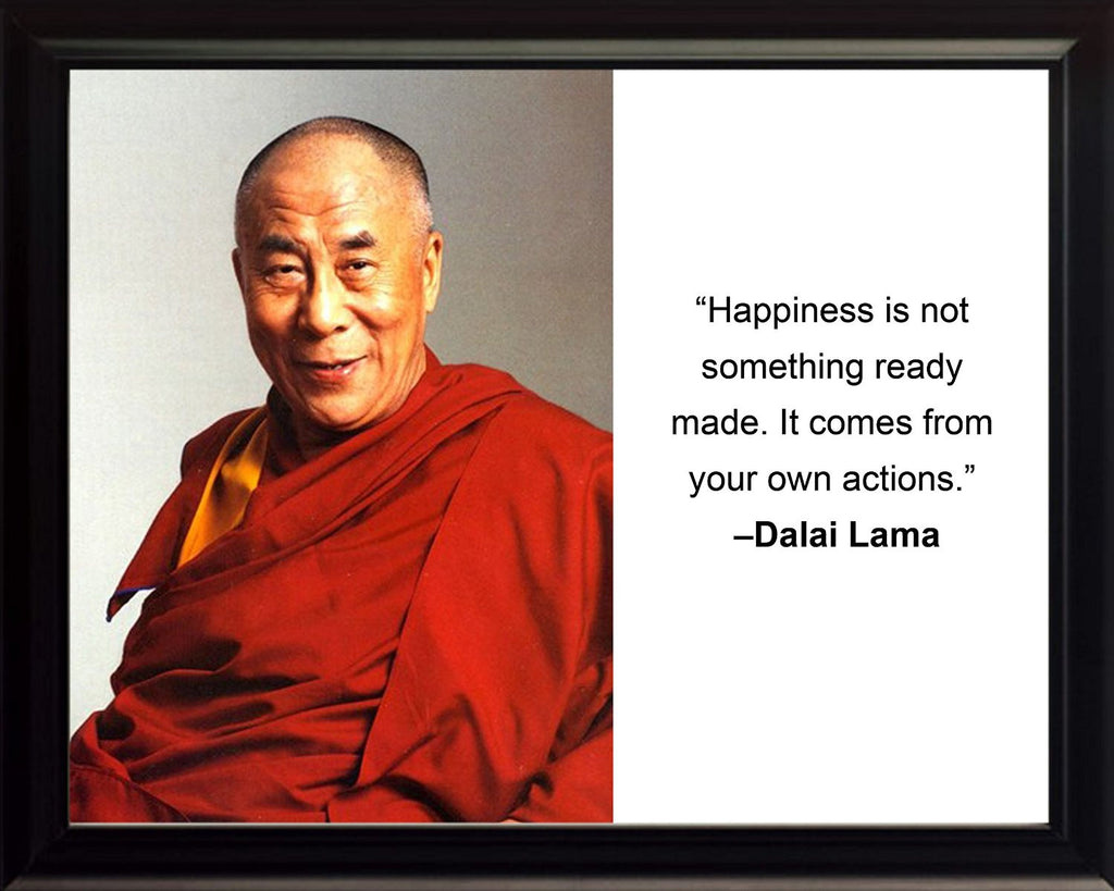 "Dalai Lama ""Happiness is not"" Quote 8x10 Framed Photo"