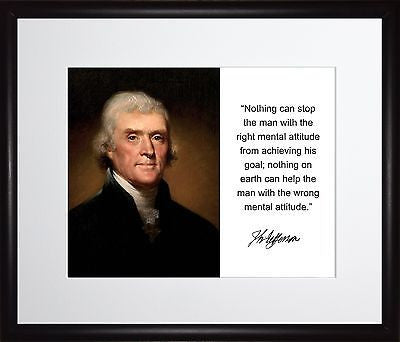 Thomas Jefferson We have more Autograph 11x13 Framed Photo Matted To 8x10