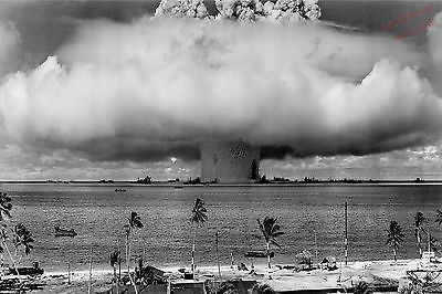 Atomic Bomb Bikini Atoll Mushroom Cloud Operation Crossroad 8x10 Photograph