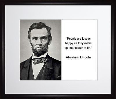 Abraham Lincoln People are just 11x13 Framed Photo Matted To 8x10