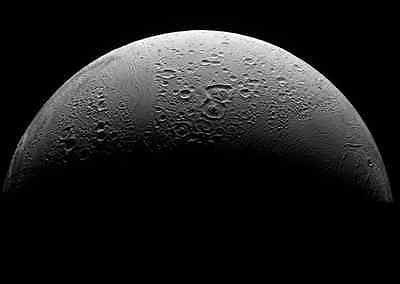 Enceladus Moon, Solar System, Outer Space, NASA 8 x 10 Photo Picture