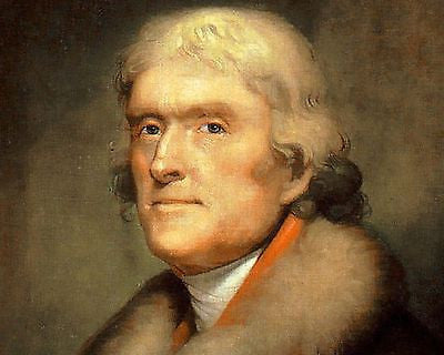 Thomas Jefferson, American President, 8x10 High Quality Photo Picture