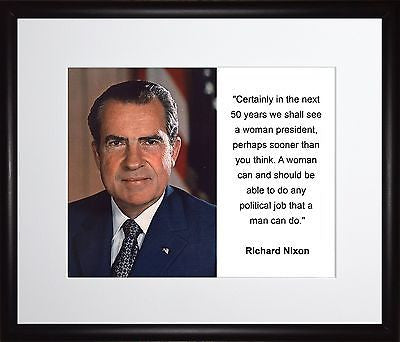 Richard M. Nixon Certainly in the next 11x13 Framed Photo Matted To 8x10