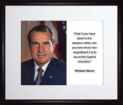 Richard M. Nixon Only if you have 11x13 Framed Photo Matted To 8x10
