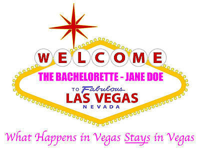 Personalized Vegas Welcome Sign 8x10 Photo - Perfect Bachelorette Party Gift