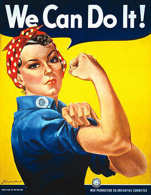We Can Do It! ROSIE THE RIVETER - Vintage Print POSTER