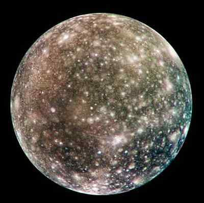 Callisto Moon, Solar System, Outer Space, NASA 8 x 10 Photo Picture