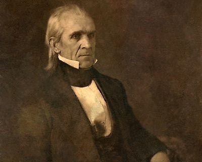 James K. Polk, American President, 8x10 High Quality Photo Picture