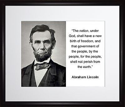 Abraham Lincoln The nation 11x13 Framed Photo Matted To 8x10