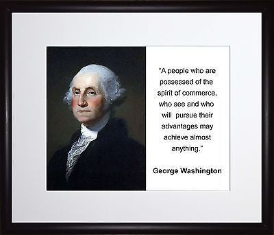 George Washington A people who are 11x13 Framed Photo Matted To 8x10