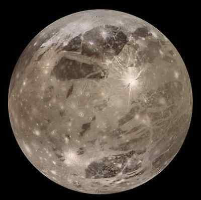 Ganymede Moon, Solar System, Outer Space, NASA 8 x 10 Photo Picture