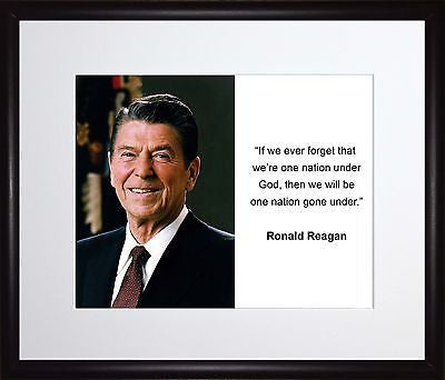 Ronald Reagan If we ever forget 11x13 Framed Photo Matted To 8x10