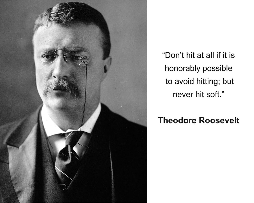 "Theodore Roosevelt ""Don't hit at all"" Quote 8x10 Photo"