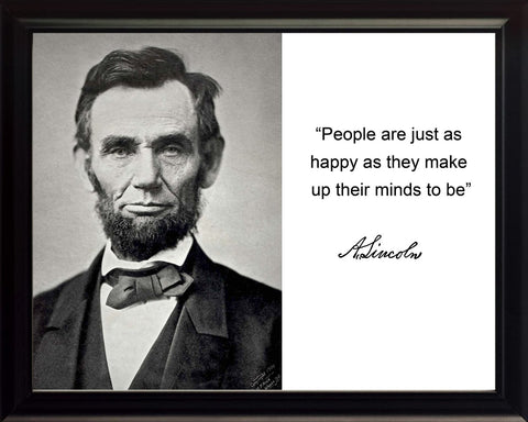 "Abraham Lincoln ""People are just"" Quote 8x10 Framed Photo"