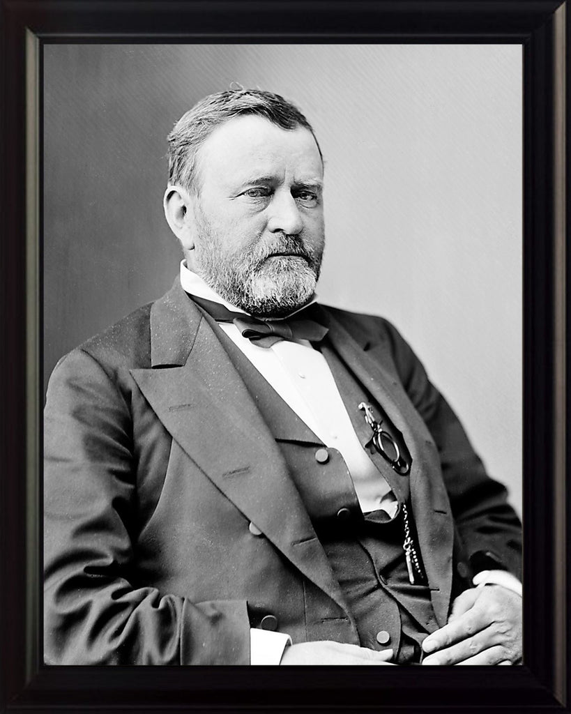Ulysses S. Grant Black and White 8x10 Framed Photo