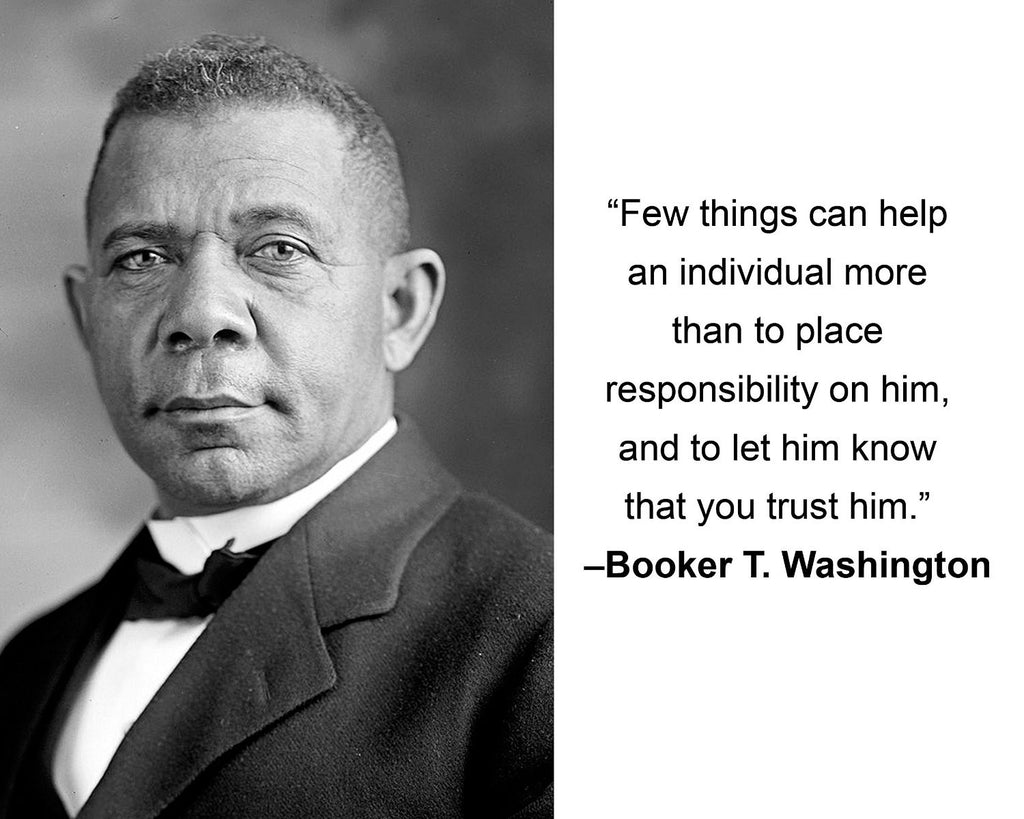 "Booker T. Washington ""Few things can help"" Quote 8x10 Photo"
