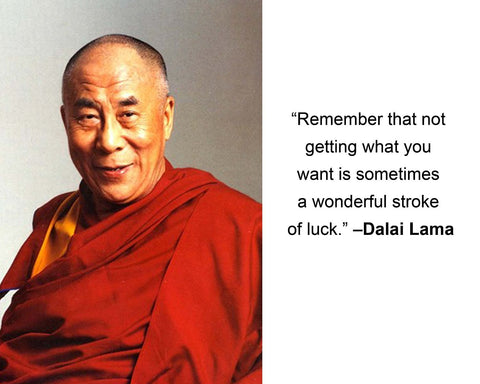 "Dalai Lama ""Remember that not"" Quote 8x10 Photo"