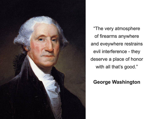 "George Washington ""The very atmosphere"" Quote 8x10 Photo"