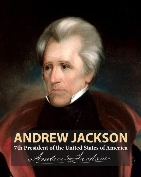 Andrew Jackson 7th President Poster, Print, Picture or Framed Photograph