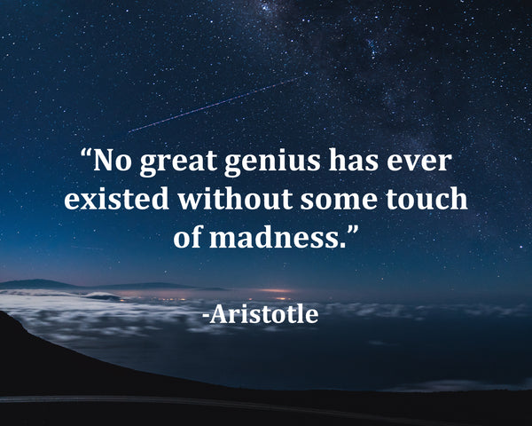Aristotle No Great Genius Poster, Print, Picture or Framed Photograph