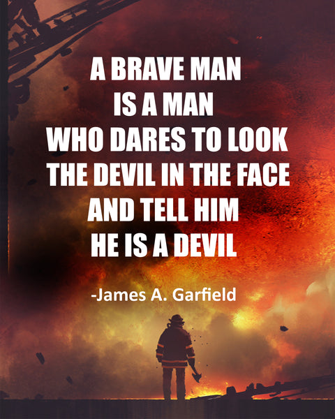 James A. Garfield A Brave Man Poster, Print, Picture or Framed Photograph