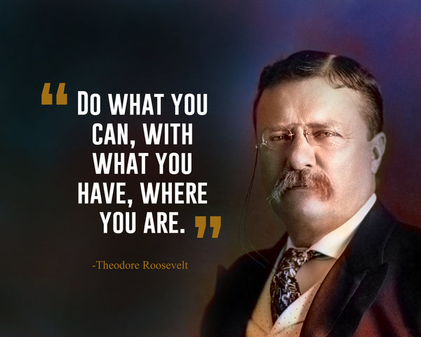 Theodore Roosevelt Do What You Poster, Print, Picture or Framed Photograph