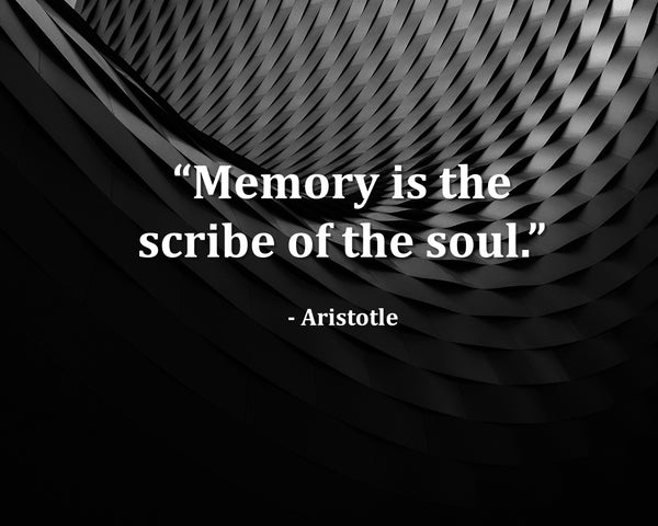 Aristotle Memory Is The Poster, Print, Picture or Framed Photograph