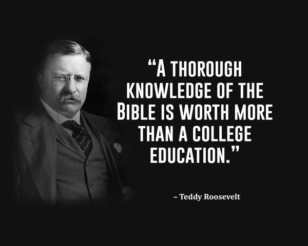 Teddy Roosevelt A Thorough Knowledge Poster, Print, Picture or Framed Photograph