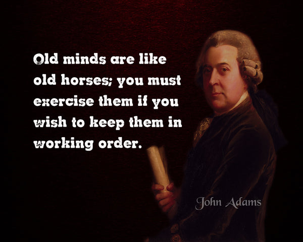John Adams Old Minds Poster, Print, Picture or Framed Photograph