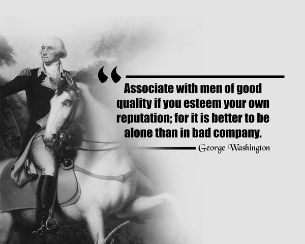George Washington Associate With Men Poster, Print, Picture or Framed Photograph