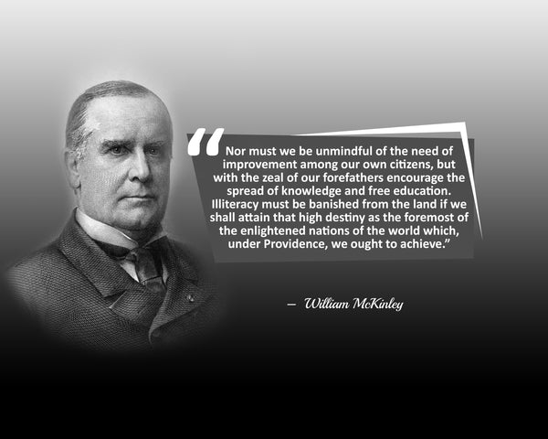 William Mckinley Nor Must We Poster, Print, Picture or Framed Photograph