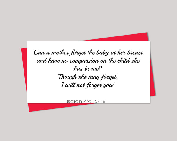 Isaiah 49:15-16 Can A Mother Poster, Print, Picture or Framed Photograph