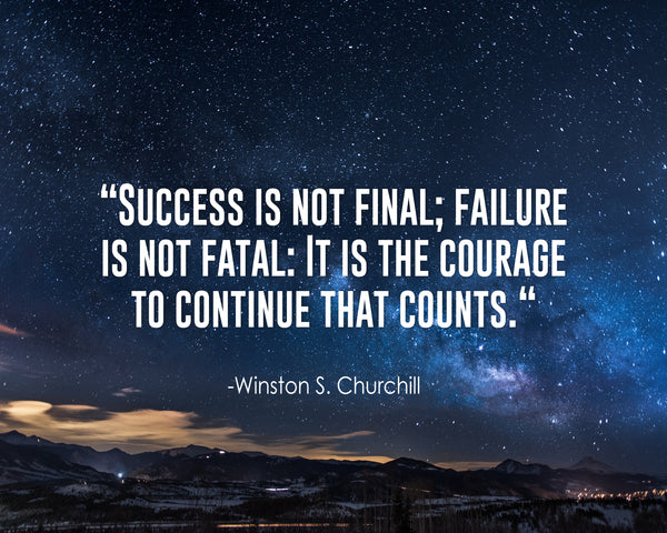 Winston S. Churchill Success Is Not Poster, Print, Picture or Framed Photograph