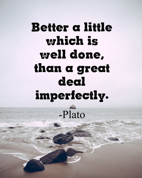 Plato Better A Little Poster, Print, Picture or Framed Photograph