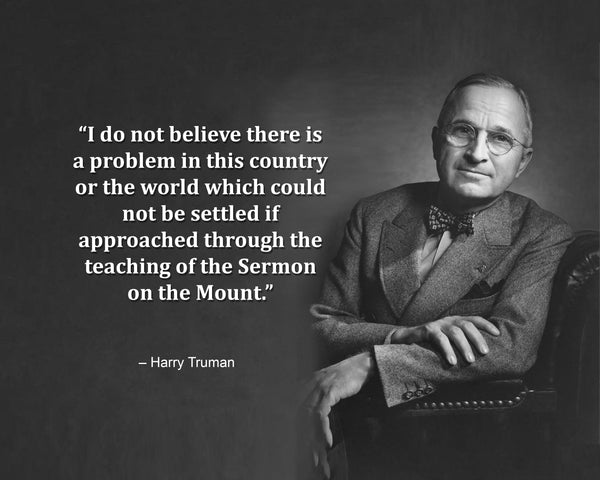 Harry Truman I Do Not Poster, Print, Picture or Framed Photograph
