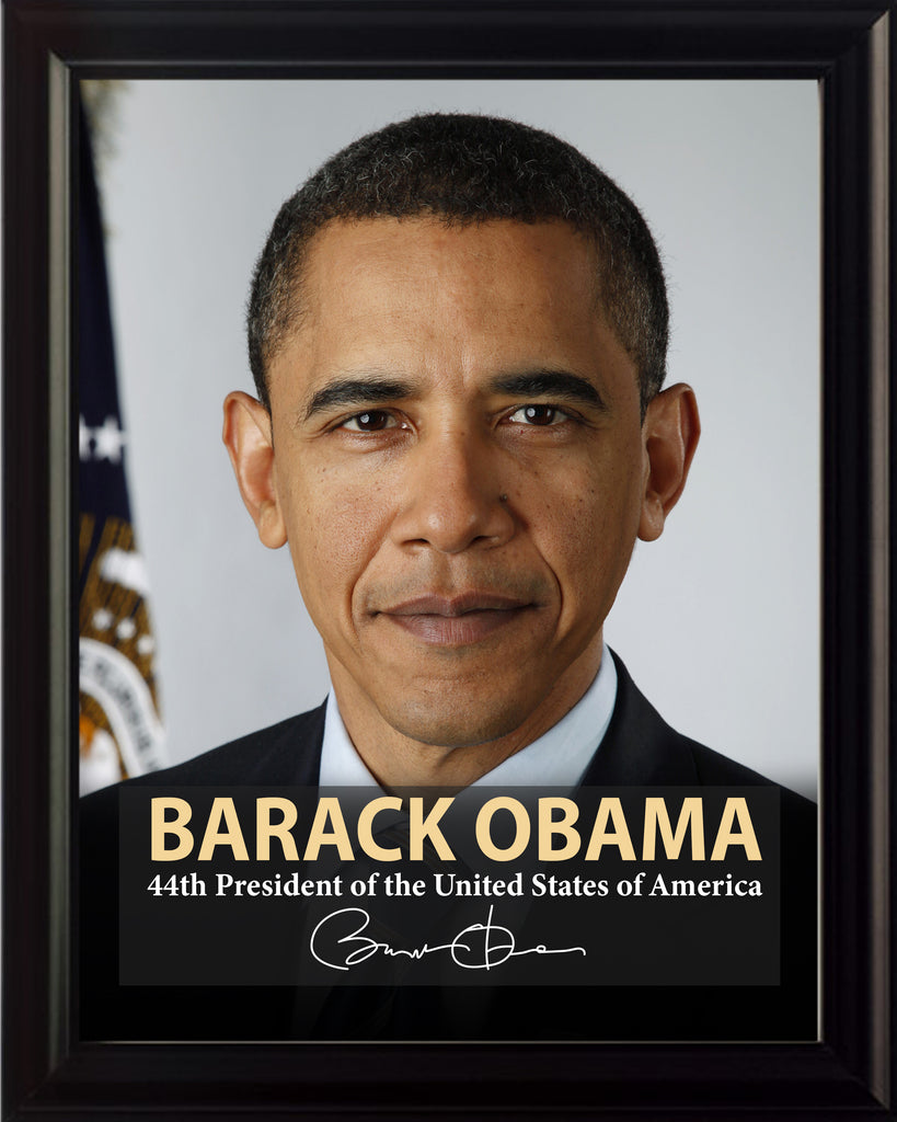 Barack Obama 44th President Poster, Print, Picture or Framed Photograph