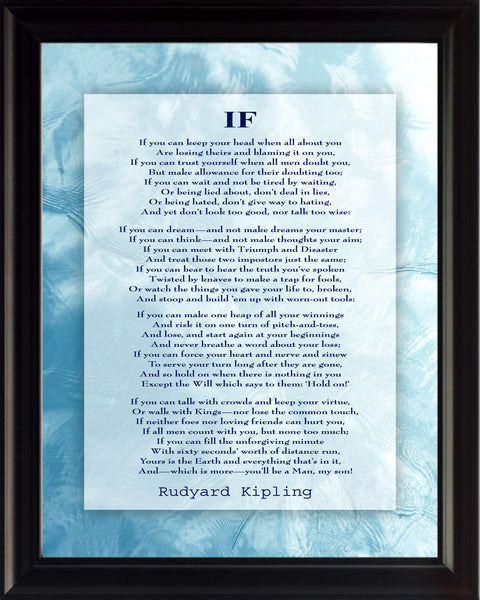Rudyard Kipling If Poster, Print, Picture or Framed Photograph