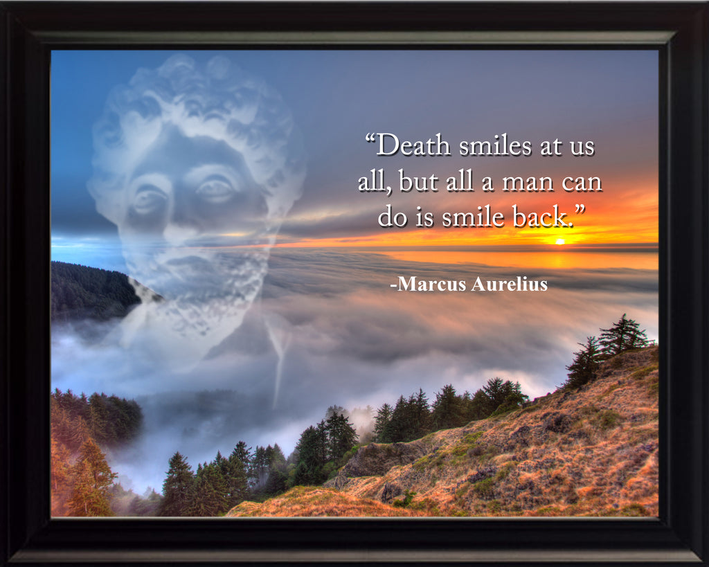 Marcus Aurelius Death smiles at Poster, Print, Picture or Framed Photograph