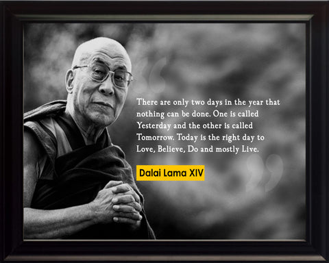Dalai Lama There Are Only Poster, Print, Picture or Framed Photograph
