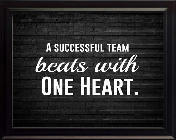 A Successful Team Sportsmanship Poster, Print, Picture or Framed Photograph
