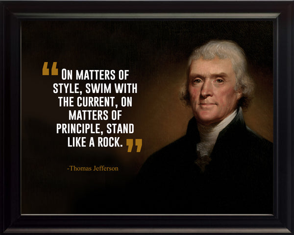 Thomas Jefferson On Matters Of Poster, Print, Picture or Framed Photograph