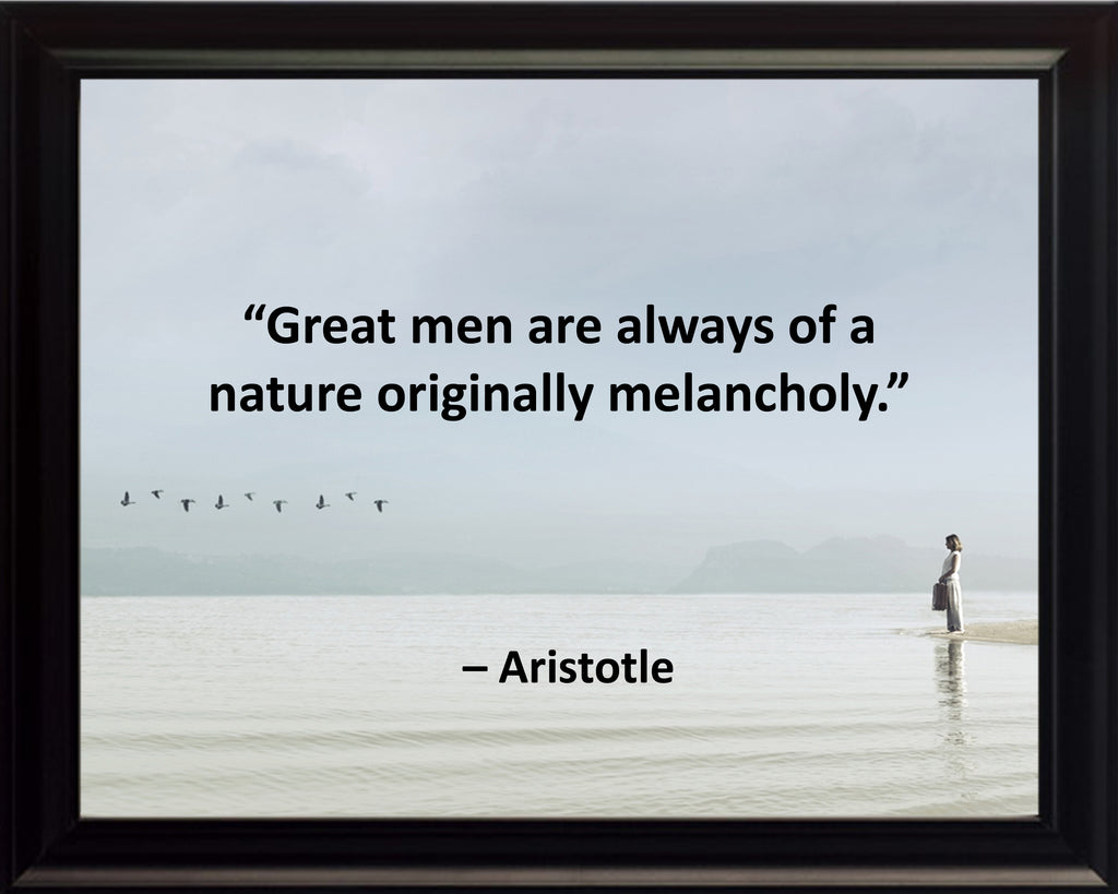 Aristotle Great Men Are Poster, Print, Picture or Framed Photograph