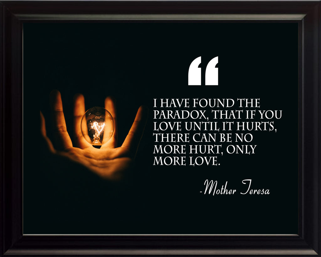 Mother Teresa I Have Found Poster, Print, Picture or Framed Photograph