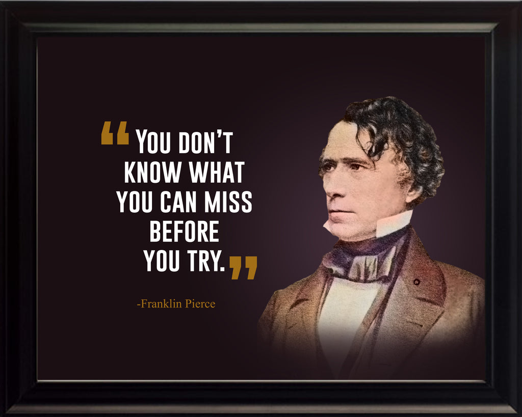 Franklin Pierce You Don't Know Poster Print, Picture or Framed Photograph