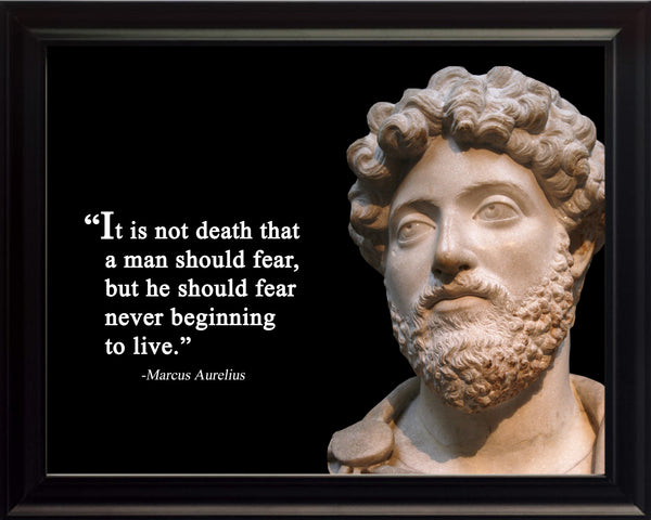 Marcus Aurelius It is not death Poster, Print, Picture or Framed Photograph